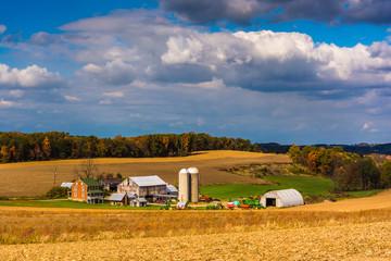 View of a farm near Glen Rock, Pennsylvania.
