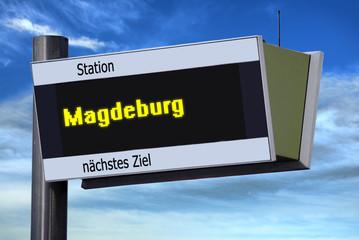 ANzeigetafel 6 - Magdeburg