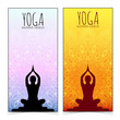 Yoga banner collection. - 75108122