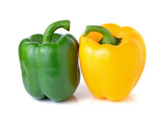 yellow green pepper onwhite background