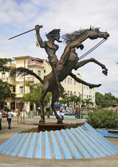 Monument to Don Quijote in Havana. Cuba