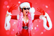 cool santa girl dj