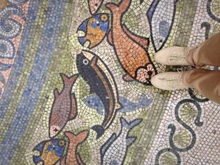 мозайка на мостовой