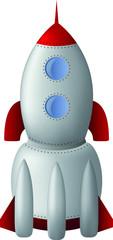 Vector cartoon rocket