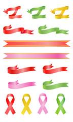 Curl and awareness color ribbons