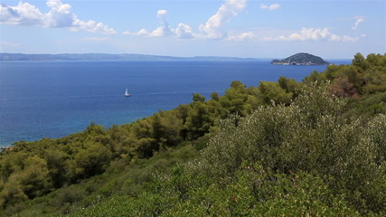 Kelyfos Island in Aegean Sea.