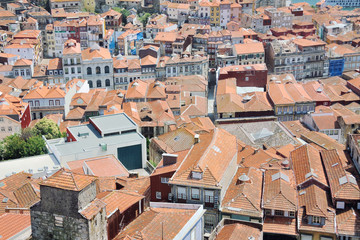 Colorful houses of historical center of Porto