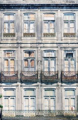 Facade of an old house in Porto, Portugal