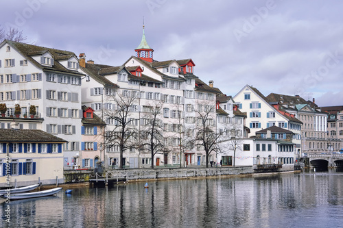 Old buildings in the city center of Zurich, Switzerland
