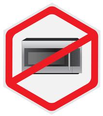 No microwave, sign, hexagon