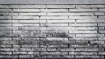 Old brick white wall background
