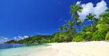panoramic view of beautiful beach , Seychelles