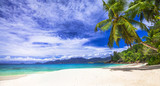 Naklejka scenic panorama one of the beautiful beaches in Seychelles