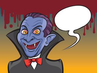 Vampire Halloween cartoon character