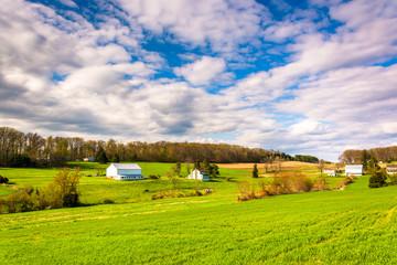 View of farms in rural York County, Pennsylvania.