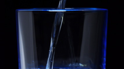 Water was poured into the beaker