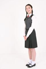 스튜디오 안의 고등학생 소녀