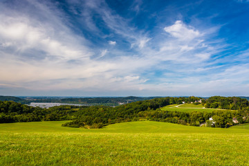 View of rolling hills and the Susquehanna River from High Point