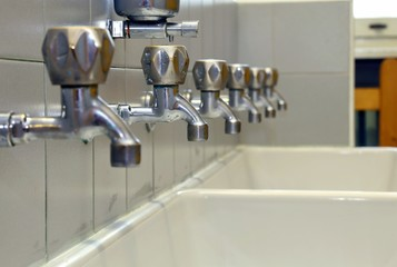 many Bath Taps of a nursery for children