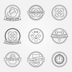 Sports and fitness logo emblem graphics set