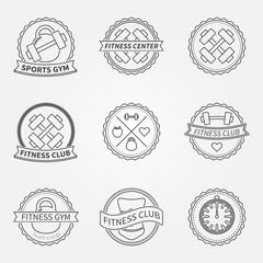 Sports and fitness logo emblem graphics set