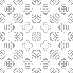 Vector gym or sport seamless pattern