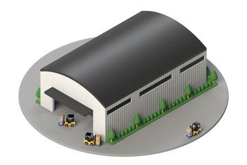 倉庫外観のアイソメ図