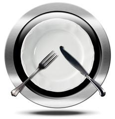 Restaurant - Metal Icon