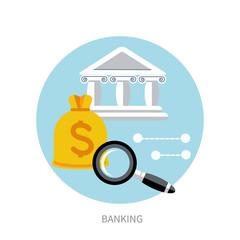 Bank office symbol