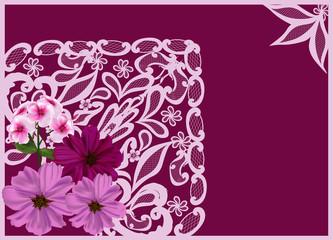 corner with pink flower design