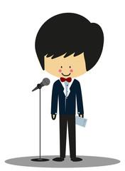 Doodle Host Announcer - Full Color