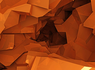 Orange cave