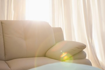 Light shining into living room