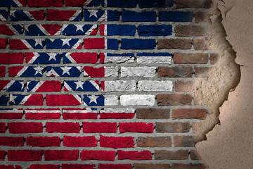 Dark brick wall with plaster - Mississippi