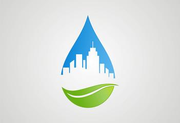 City ecology logo vector