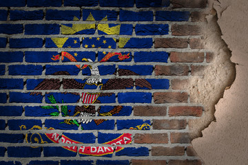 Dark brick wall with plaster - North Dakota