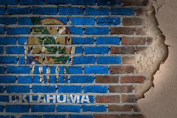 Dark brick wall with plaster - Oklahoma