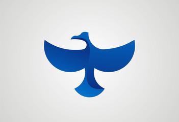Bird flying logo vector