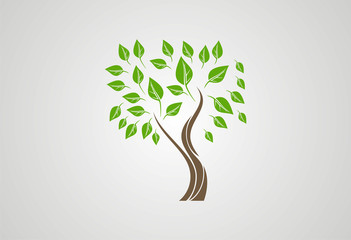 Tree ecology logo vector