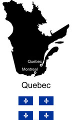 Quebec vector map