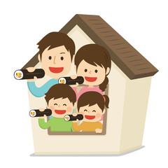 節分 恵方巻き 家族