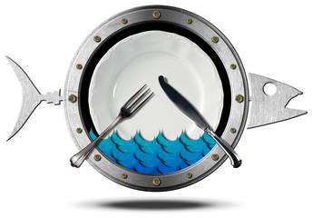 Seafood - Metal Icon