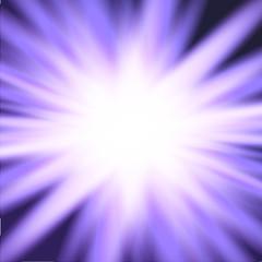 Violet light rays