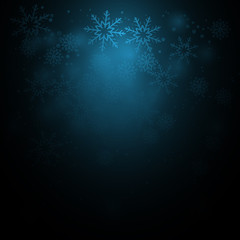 christmas background with sparkles and snowflakes