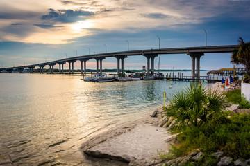 The Vilano Causeway, in Vilano Beach, Florida.