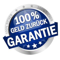Button - 100% Geld Zurück Garantie