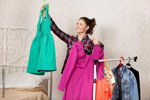 Poster Girl chooses dresses