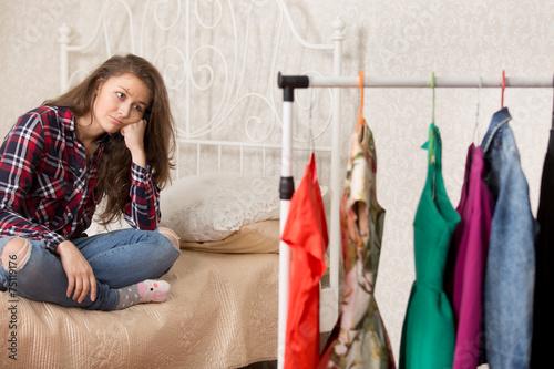 Girl chooses dresses Poster