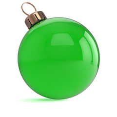 New Years Eve Christmas ball ornament green decoration