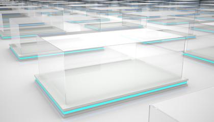 Empty clear display box